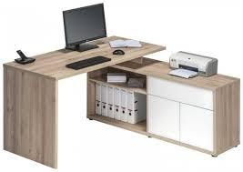 Corner Desk Beech Beech And White Corner Desk 4020 2656