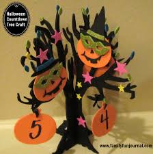 countdown to halloween calendar halloween countdown calendar tree family fun journal