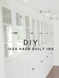 avery street design blog diy summer ikea hack built in