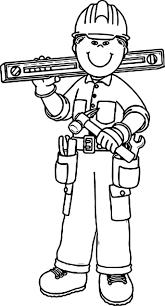 carpenter boy coloring page wecoloringpage