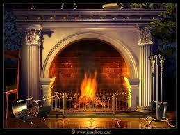 fireplace by josephine mixed media mixed style