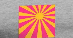 pink rectangle sun rays design t shirt spreadshirt