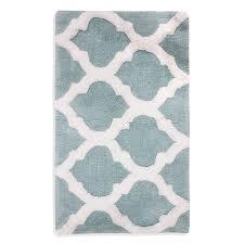 Aqua Bathroom Rugs by Grand Resort Cotton Tufted 21 X 34