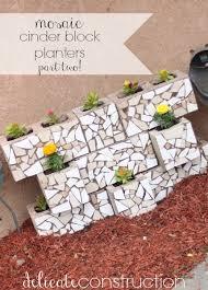 mosaic cinder block planter part 2 delicate construction