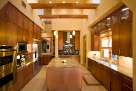 Wood Veneer For Kitchen Cabinets by Maple Slab Cabinet Doors In This Contemporary Kitchen Modern