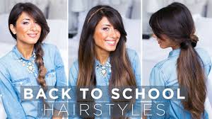 cute u0026 easy back to hairstyles youtube