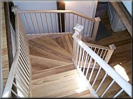 Solid Banister Stair Engaging Image Of Staircase Decoration Using White Wood