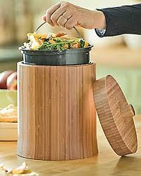 bamboo compost crock buy from gardener u0027s supply