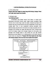 contoh membuat proposal riset contoh proposal pkmp pdf pdfkul com
