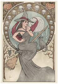 mucha witch google search is it halloween yet pinterest