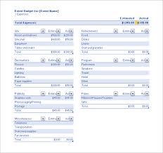 Event Budget Template Excel Sle Event Budget Sle Event Budget Template Sle Event