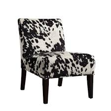 Accent Chairs Homesullivan Black Cowhide Accent Chair 40468f24s 3a The Home Depot