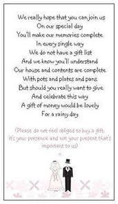 Wedding Gift List Wording Wedding Invitations Gifts Paperinvite
