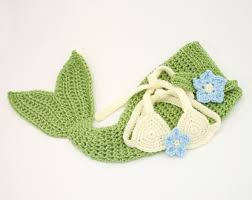 Baby Mermaid Halloween Costume Crochet Baby Mermaid Etsy