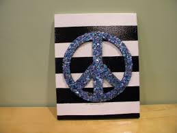Penguin Home Decor by Perky Penguin Crafts Unique Home Decor Peace Sign Wall Decor