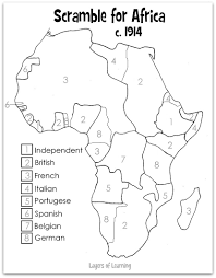 European Map Blank by The European Colonization Of Africa Happened Late In World History