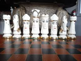 white chess board pieces duncan medieval hand painted porcelain