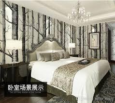 10 meterbirch tree woods wallpaper non woven roll modern designer