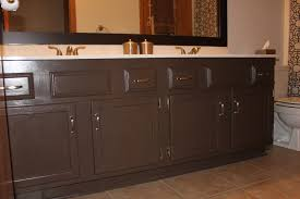 how to repaint bathroom cabinets spray painted bathroom cabinets portia double day painted