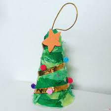 simple to make tree decoration or ornament from recycled