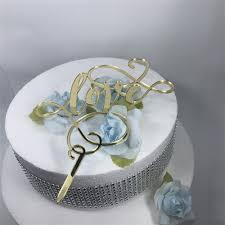 new design love letter wedding cake topper decoration white black