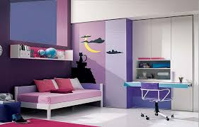 stunning small bedroom ideas for teenage girls with purple colors