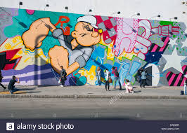 bowery mural wall stock photos bowery mural wall stock images giant popeye cartoon wall mural at the bowery and houston street in nyc stock image