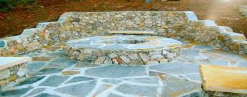 Natural Stone Benches Fire Pit Designs Archives Stone Work U0026 Pavers Installation