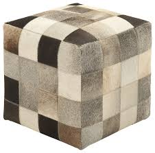 fascinating styled wood leather ottoman contemporary