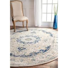 6 X 9 Oval Area Rugs Nuloom Traditional Vintage Blue Oval Rug 6 7 X 9 Oval