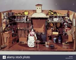 Dollhouse Kitchen Furniture Toys Dolls Dollhouse Smoke Kitchen South Germany Early 19th