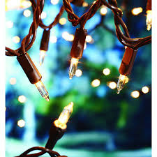 Brown Wire Christmas Lights Mainstays 100 Clear Indoor Outdoor Light String Brown Wire