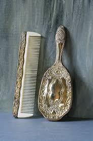 vintage comb vintage child s mirror comb and brush silver plated mirror