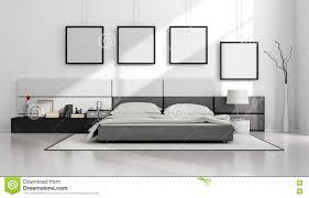 Minimalist Bed Frame by Black And White Minimalist Bedroom Stock Illustration Image