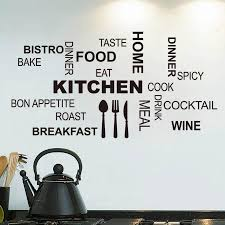 kitchen characters words wall stickers kitchen wall decal home fashion characters words stickers kitchen wall stickers home decoration blace black quotes wall sticker fashion