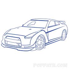 how to draw a race car u2013 pop path