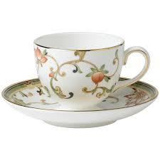 tea cup set wedgwood oberon leigh flora teacup and saucer set