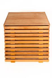 Flat File Cabinet Wood by Rare Poul Kjaerholm Flat File Cabinet By Rud Rasmussen At 1stdibs