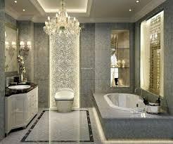 James R Moder Chandelier Traditional Master Bathroom With Simple Granite Tile Floors U0026 Wall