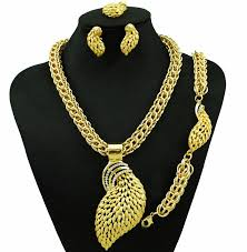 large gold ring necklace images Big size jewelry sets women necklace gold jewelry sets in jewelry jpg
