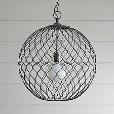 Black Iron Pendant Light Pendant Lighting And Chandeliers Crate And Barrel
