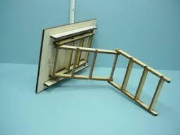 dollhouse miniature folding attic stairs 2299t 1 12