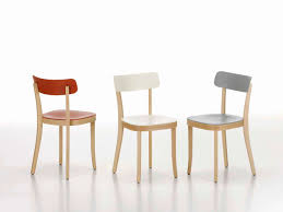 Plastic Wood Chairs Contemporary Chair Wooden By Jasper Morrison Basel Vitra