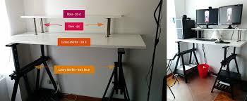 fabriquer un bureau informatique mon bureau assis debout standing desk pour moins de 110