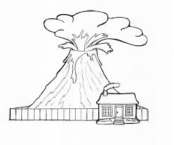 free science coloring pages free printable volcano coloring pages for kids