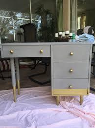 diy chalk paint desk grey amy howard one step paint annie sloan