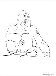 coloring page of gorilla gorilla coloring pages haverhillsedationdentistry com