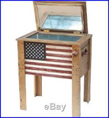 coolers and ice chests wooden