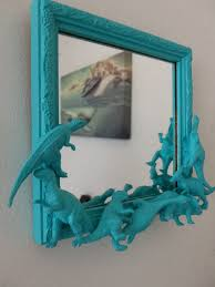 Dinosaur Bedroom Ideas Teal Blue Dinosaur Mirror Dying Pinned By Kidfolio The
