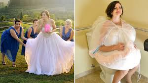 bridal buddy makes it easier for brides to use the bathroom in